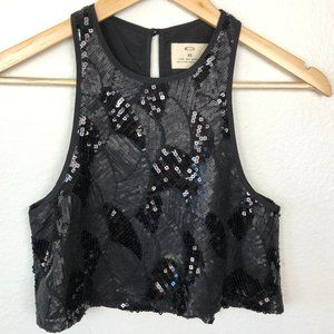 Pins & Needles Sequin Crop Top XS